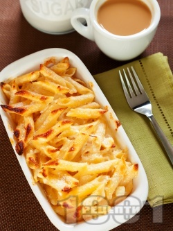 Карамелизирани сладки макарони на фурна - снимка на рецептата
